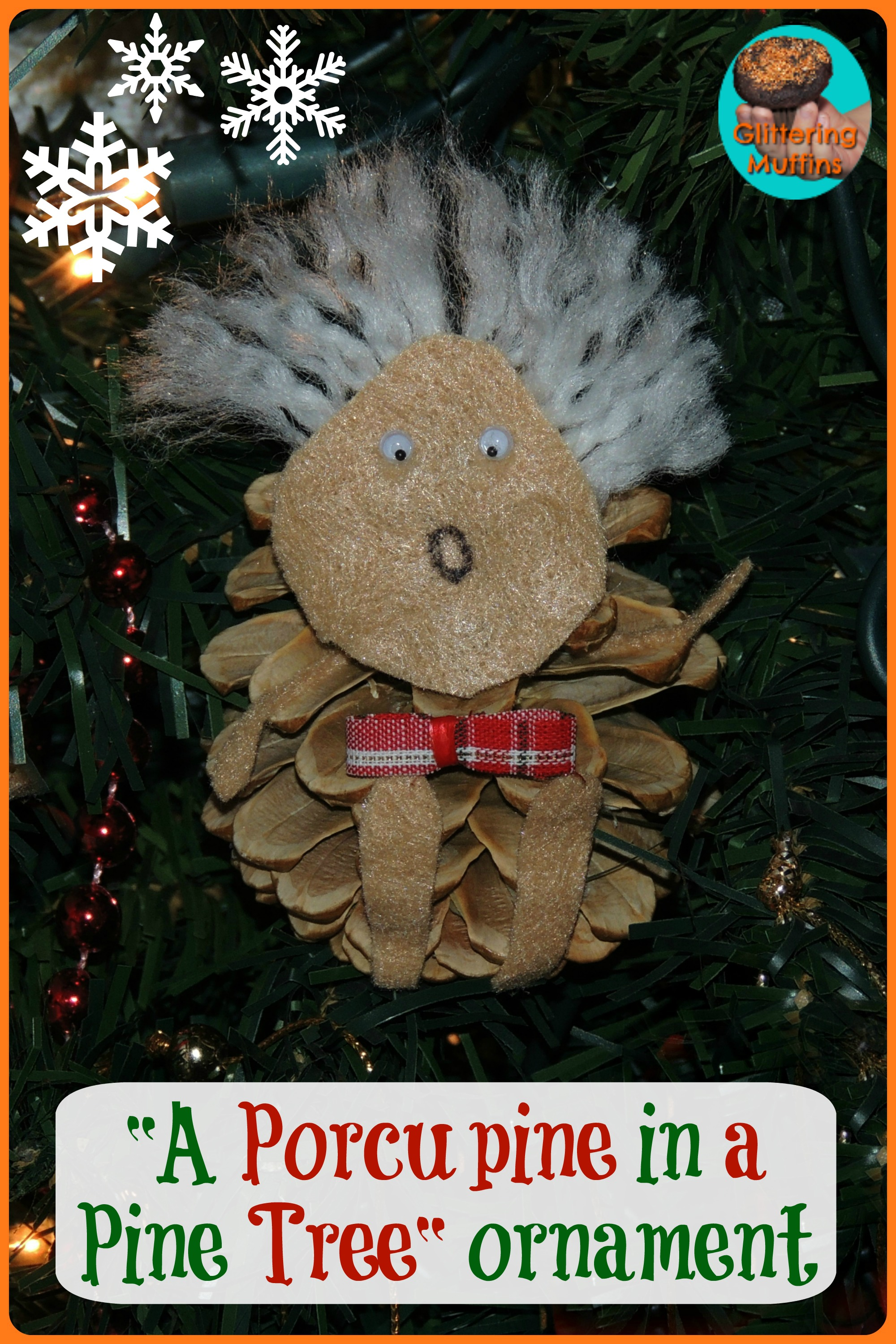 "10 Days of a Kid-Made Christmas – ""A Porcupine in a Pine Tree"" Ornament"